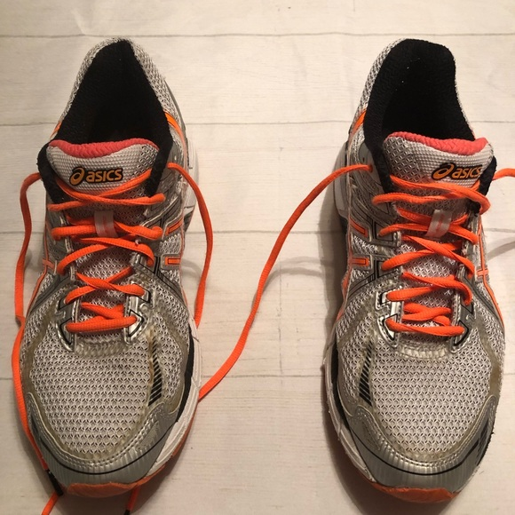 Men's Orange And Gray ASICS GT 2000 Sneakers